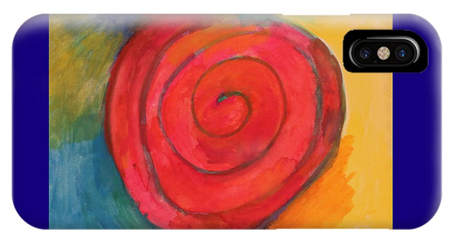 Spiral IPhone X Case featuring the painting Spiral Of Life by Shakti Chionis