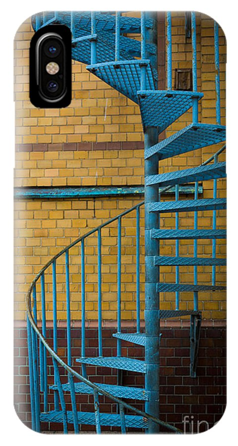 Europe IPhone X Case featuring the photograph Spiral Staircase by Inge Johnsson