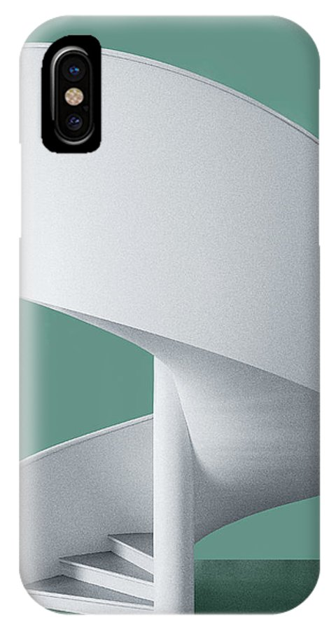 Architecture IPhone X Case featuring the photograph Spiral Staircase by Inge Schuster