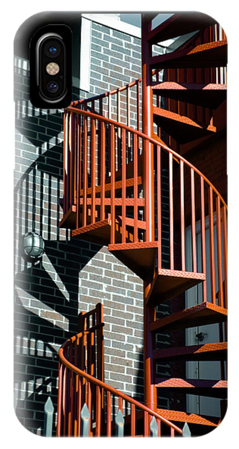 Art IPhone X Case featuring the photograph Spiral Stairs - Color by Darryl Dalton