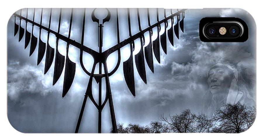 Native Artwork IPhone X Case featuring the photograph Spirit Catcher Storm by Alex Cianfarani