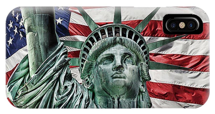 Lady Liberty IPhone X Case featuring the photograph Spirit Of Freedom by Joachim G Pinkawa