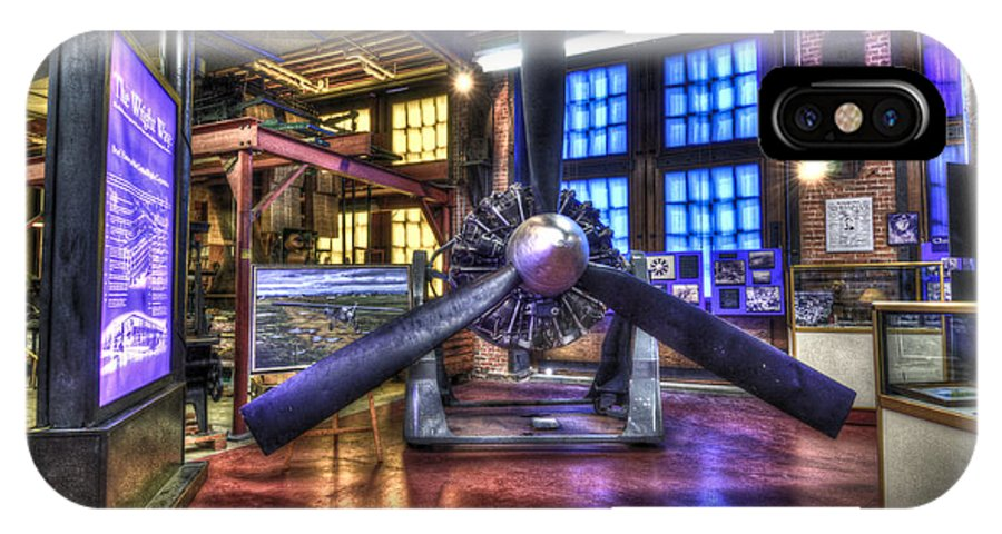 Hdr IPhone X Case featuring the photograph Spirit Of St.louis Engine by Anthony Sacco
