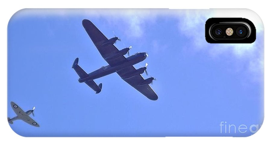 Spitfire IPhone X Case featuring the photograph Spitfire Lancaster Bomber by John Williams