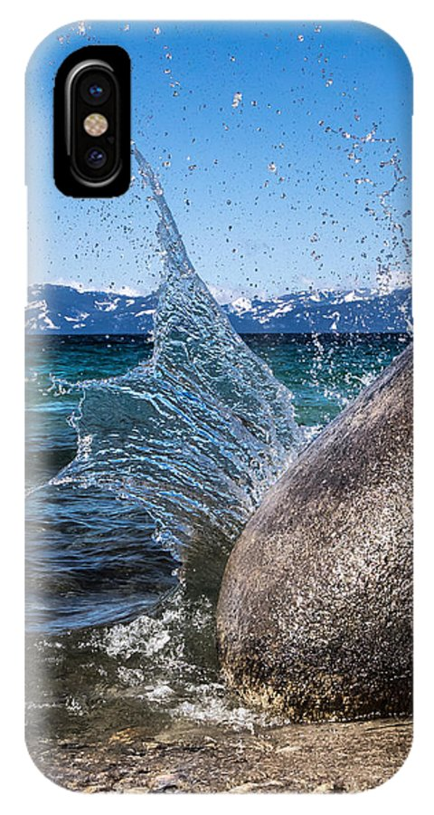 Lake Tahoe Splash IPhone X Case featuring the photograph Splash by Martin Gollery