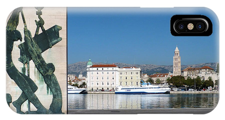 Sculpture IPhone X Case featuring the photograph Split Harbour by Phil Banks