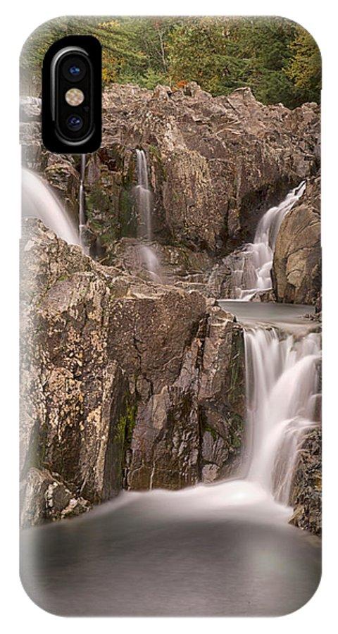 Usa IPhone X Case featuring the photograph Split Rock Falls by Nicholas Palmieri