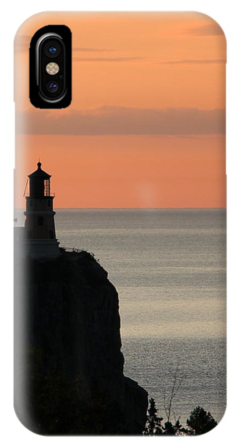 Light IPhone X Case featuring the photograph Split Rock Lighthouse At Sunrise by George Jones