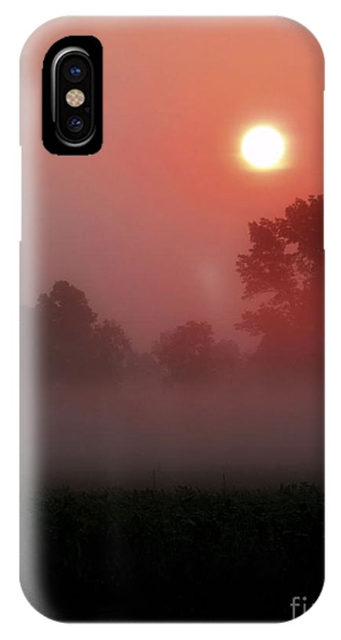 Pink Hues IPhone X Case featuring the photograph Spo247a by Scott B Bennett