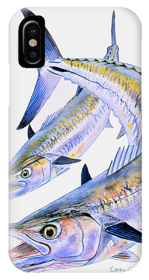 Kingfish IPhone X / XS Case featuring the painting Spoon King by Carey Chen