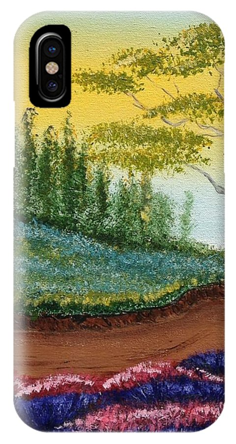 Landscape IPhone X Case featuring the painting Spring Afternoon by Brennan Young