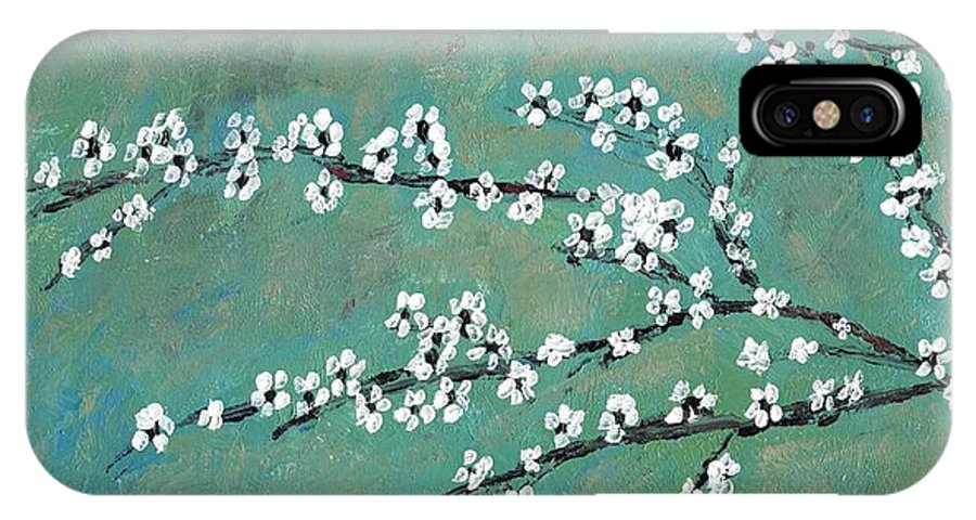 Spring IPhone X Case featuring the painting Spring Blossom by David Dossett