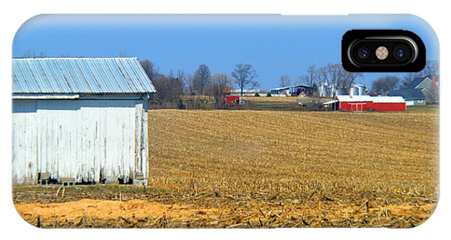 Indiana IPhone X Case featuring the photograph Spring Cleaning The Small Barn by Tina M Wenger