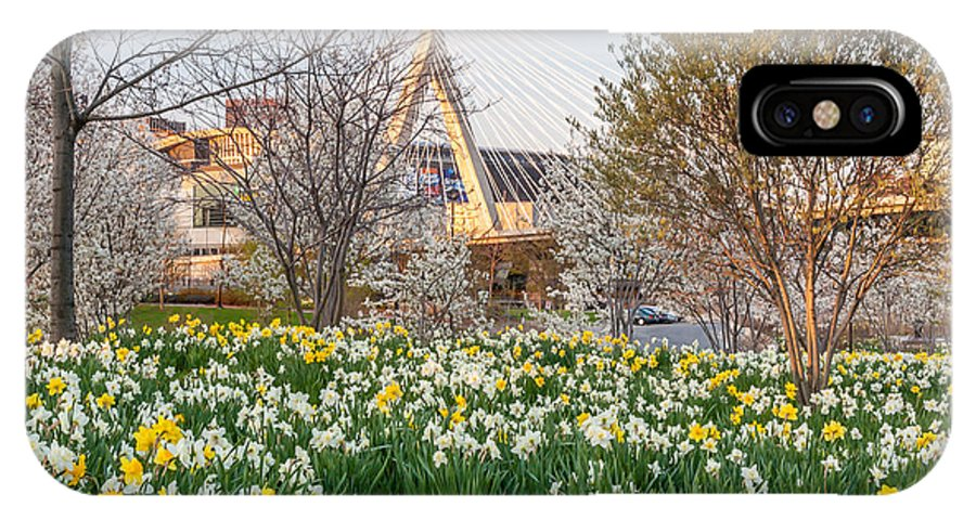 America IPhone X Case featuring the photograph Spring In Boston by Susan Cole Kelly