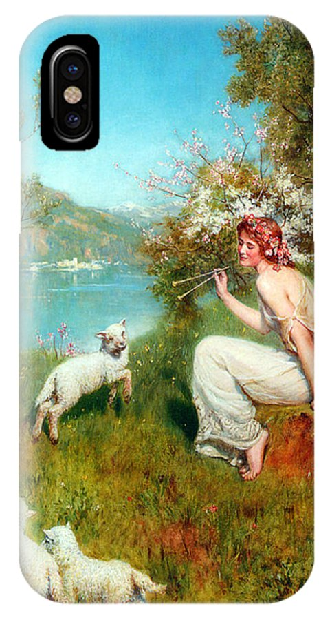 John Collier IPhone X Case featuring the digital art Spring by John Collier