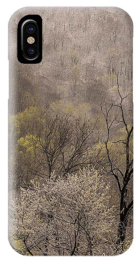 Snow IPhone X Case featuring the photograph Spring Snow by Tom Reed
