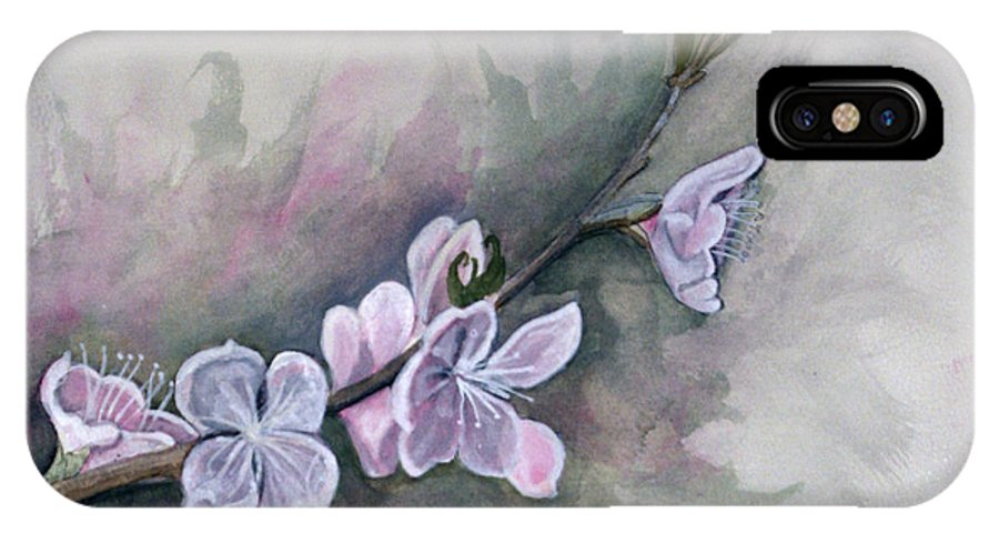 Rick Huotari IPhone X Case featuring the painting Spring Splendor by Rick Huotari