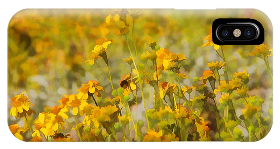Wild Flowers IPhone X Case featuring the photograph Spring by Tammy Espino