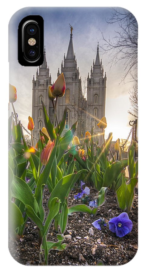 Lds Photographs IPhone X Case featuring the photograph Spring Temple by Nick Cardona