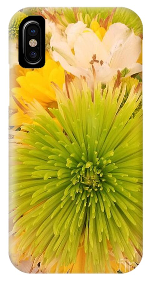 Flowers IPhone X / XS Case featuring the photograph Spring Things by Lady Ex