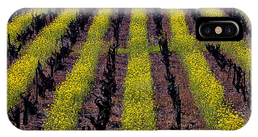 Napa IPhone X Case featuring the photograph Spring Vinyards by Garry Gay