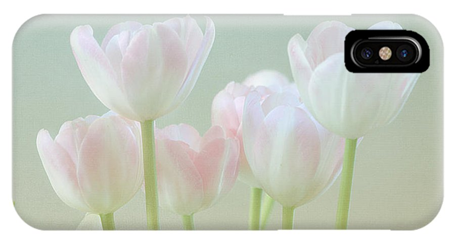 White Flower IPhone X Case featuring the photograph Spring's Pastels by Kim Hojnacki