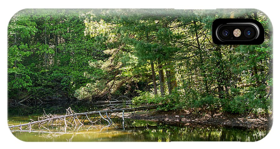 Deadfall IPhone X Case featuring the photograph Springtime At Crystal Lake by John Carroll