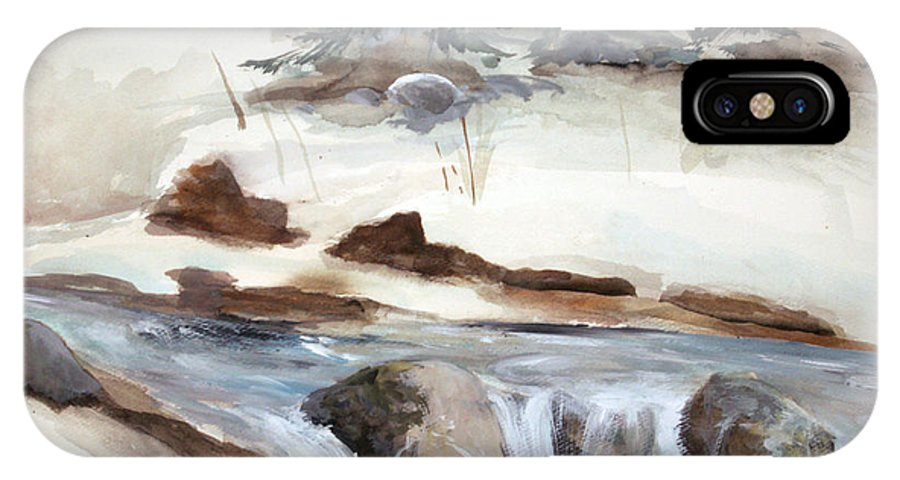 Rick Huotari IPhone X Case featuring the painting Springtime by Rick Huotari