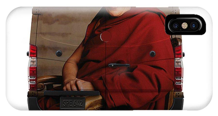 Travel IPhone X Case featuring the photograph Sprinter Dalai Lama by Art Faul