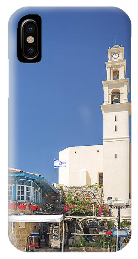 Architecture IPhone X Case featuring the photograph Square In Jaffa Tel Aviv Israel by Jacek Malipan