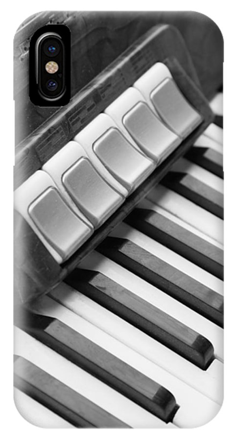 Musikinstrumente IPhone X Case featuring the photograph Squeezebox by Falko Follert
