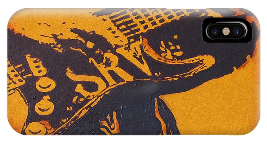 Stevie Ray Vaughan IPhone X Case featuring the painting SRV Number One Fender Stratocaster by Eric Dee