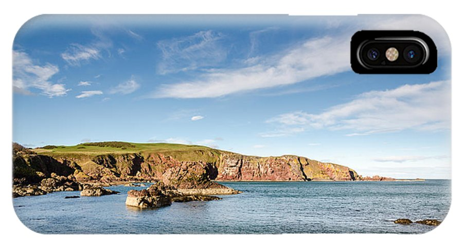 Bay IPhone X Case featuring the photograph St Abbs Cliffs by David Head