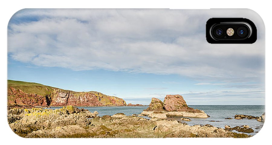 Bay IPhone X Case featuring the photograph St Abbs Rocky Shoreline by David Head