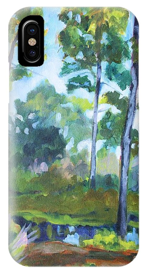 Florida IPhone X Case featuring the painting St. Andrew's Park by Jan Bennicoff