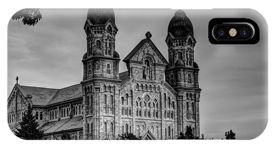Catholic IPhone X Case featuring the photograph St Anne's Church Fall River Ma by Andrew Pacheco