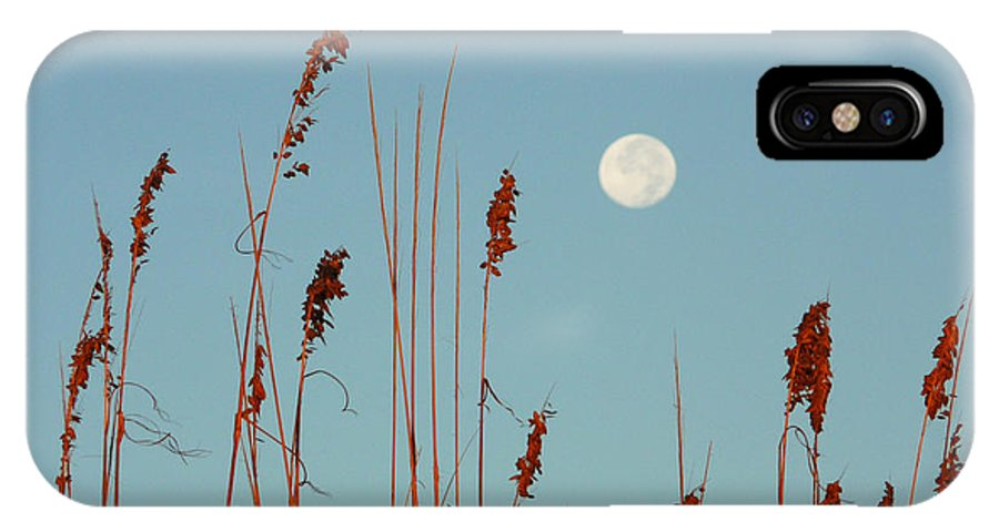 St. Augustine Beach IPhone X Case featuring the photograph St. Augustine Beach Moonrise by Phil King
