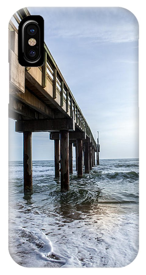 IPhone X Case featuring the photograph St. Augustine Beach Pier by Rick Testasecca