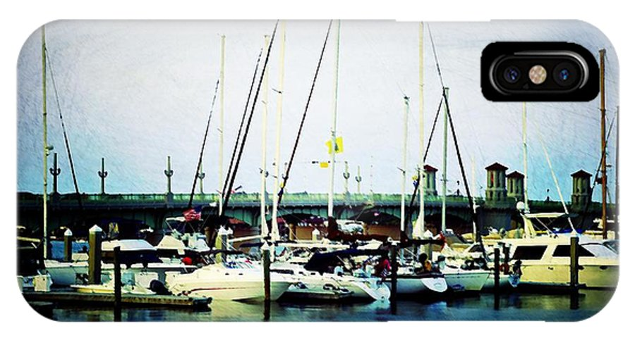 Marina IPhone X Case featuring the photograph St. Augustine Sailboats by Laurie Perry