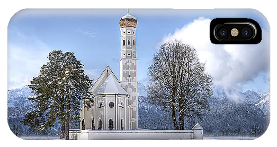 Church IPhone X Case featuring the photograph St Colemans Church by Ryan Wyckoff