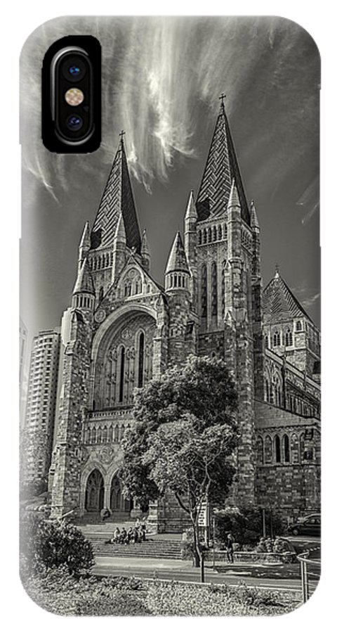 Cathedral IPhone X Case featuring the photograph St John Cathedral by Peter Lombard