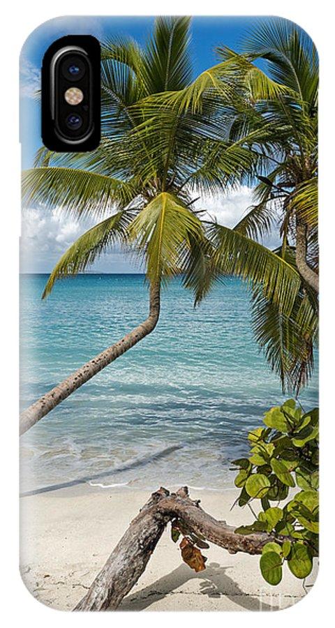 St John IPhone X Case featuring the photograph St John's Beach by Sheldon Kralstein
