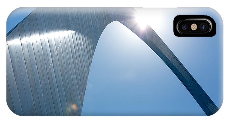 Arch IPhone X Case featuring the photograph St. Louis Arch IIi by Ken Gehring