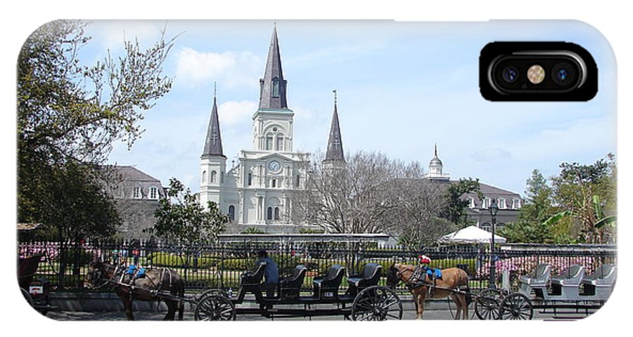 New Orleans IPhone X Case featuring the photograph St. Louis Cathedral New Orleans by Travis Tapley