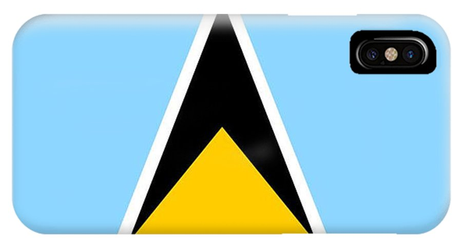 St. Lucia IPhone X Case featuring the digital art St. Lucia Flag by Frederick Holiday