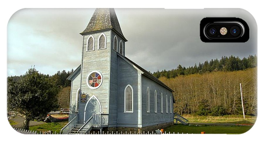 Church IPhone X Case featuring the photograph St Mary's Chruch by Marv Russell