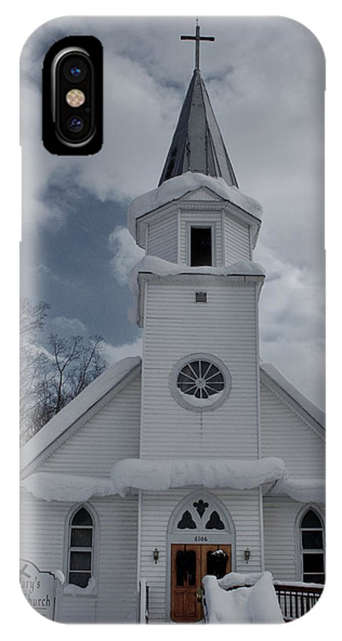 St. Mary's IPhone X Case featuring the photograph St. Marys Glenfield Ny by Dennis Comins