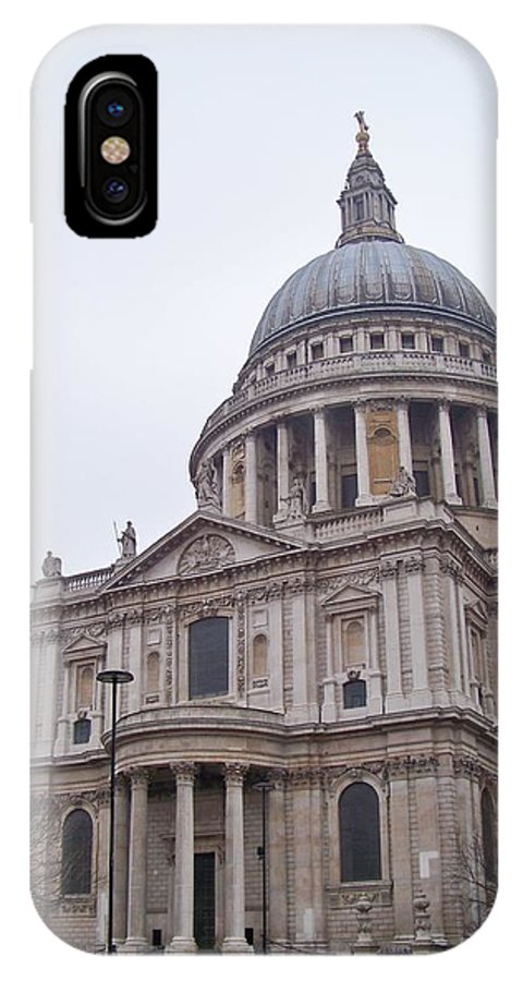 London IPhone X Case featuring the photograph St. Paul's by Nicole Oliva