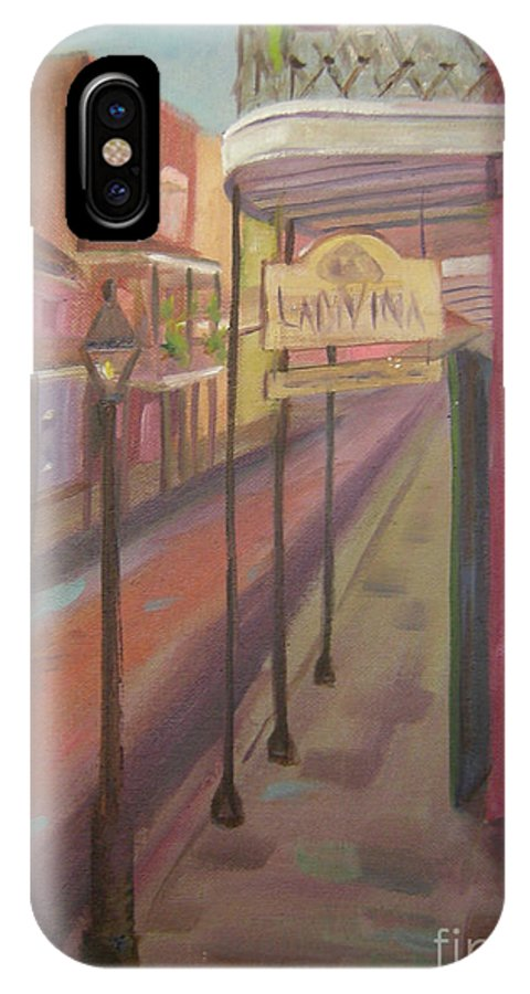 New Orleans IPhone X Case featuring the painting St. Peter Street by Lilibeth Andre
