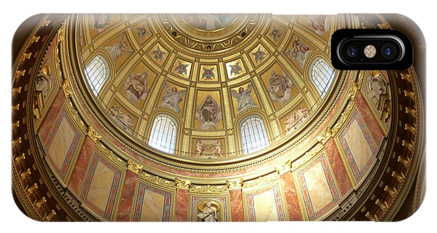 Budapest IPhone X Case featuring the photograph St. Stephen's Dome by Deborah Smolinske